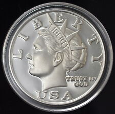 2003 NORFED (1oz) TORCH & LIBERTY USA PREMIUM $10 .999 Silver Round in Air-Tite