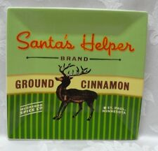 "ONEIDA Holiday SANTAS HELPER Square 8"" x 8"" Reindeer SALAD DESSERT PLATE Rudolph"