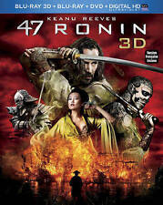 47 Ronin 3D (Blu-ray 3D, Blu-ray, DVD, Slipcover, 2014, 3-Disc Set, Canadian)