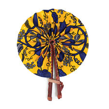 African Botanical Leather Folding Fan | Home Deco | Leather Hand Fan