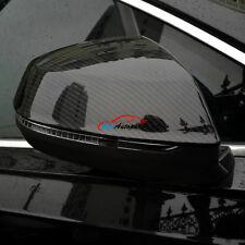 Rear View Rearview Mirror Cover Trim Carbon Fiber Look For Audi Q7 4M 2016 2017