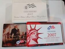 2007-S Silver  Proof Set.Original. 14 coins w/ quarters & dollars BOX & COA