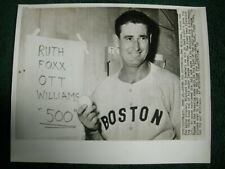 1960 TED WILLIAMS ORIGINAL AP WIRE PHOTO RED SOX BASEBALL 500 HOME RUN STAMP BK
