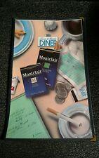 Montclair Cigarettes Advertising Plan/ Menu from 1992