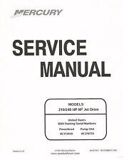 2000 Mercury Marine Service Manual for Seadoo 210 & 240 HP M2 Engine & Jet Drive