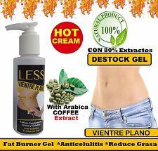HOT CREAM VIENTRE PLANO CREMA REDUCTORA 4oz LIPO-GEL REDUCTOR burner GRASA fat