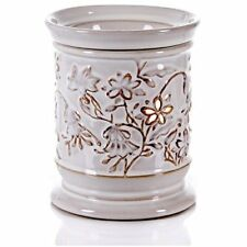 Tall White Electric Candle Warmer Air Freshener - Ceramic Tart Melter Oil Burner