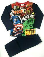 BNWT Boys Kids Marvel  Comics Avengers Hulk Thor Navy Full length Pyjamas Pjs