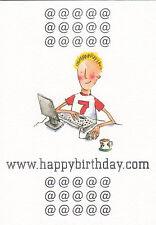 """(32763) Biglietto Di Auguri Compleanno - d'auguri interno """"Have un grande day"""""""