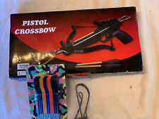 160 Fps Mini 80 Lb Hunting Metal Pistol Crossbow w/ 15 Bolts Arrows Xbow Bow