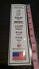 BT Industries Tell the Thieves We Own Atlas Bipods & Accushot Decal Sticker 9""