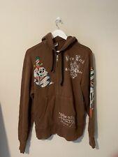 Christian Audigier & Ed Hardy New York Sweater Hoodie Zip up brown - Vintage