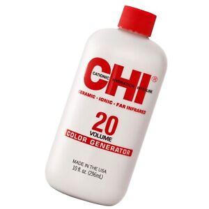 CHI 20 Volume Color Generator permanent shine hair lift cream color 10 fl oz