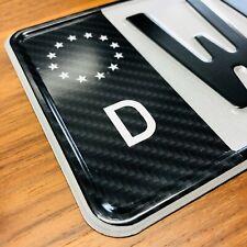 1x EU Feld ✔ Aufkleber Carbon Schwarz ✔ Kennzeichen Sticker Nummernschild Tuning