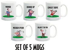 5 Golf Mug Awards Longest Drive, Winner ,Runner Up, Nearest Pin, Wooden Spoon