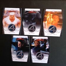 2008 MARVEL MASTERPIECES FANTASTIC FOUR COSTUME COMPLETE SET OF 5 CHASE INSERT