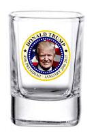 President Trump 2 oz. Square whiskey / shot glass NEW