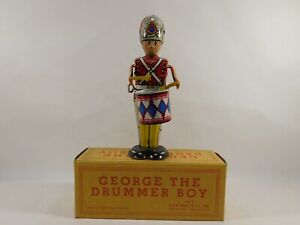 MARX George the Drummer Boy Wind Up Tin Toy Litho WORKS with box