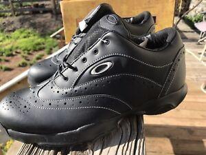 Oakley Neck Tye Mens Golf Shoes Black 10.5W