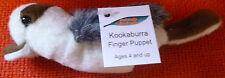 AUSTRALIAN ANIMAL FUNDRAISER GIFT KOOKABURRA Soft Material FINGER PUPPET