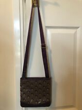 Radley Cross Body Oil Cloth Bag 8 Inches Square , Mulberry Colour