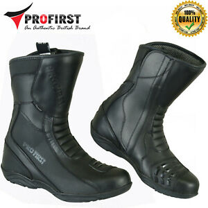 Mens Waterproof Leather Touring Boots Motorbike Motorcycle Riding Shoes Armoured