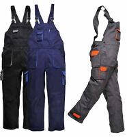 Work Wear Bib and Brace Coverall Overall Contrast Mechanic Portwest TX12