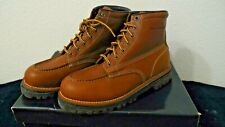 *DAMAGED NEW Vintage Ralph Lauren Polo Sport Leather Brown Woodley Boots