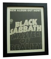 BLACK SABBATH+Master Of Reality+POSTER+AD+ORIGINAL 1971+FRAMED+FAST GLOBAL SHIP