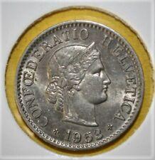Switzerland 5 Rappen 1953-B Brilliant Uncirculated Coin