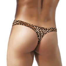 70a3edcb7e807 Fashion Mens Leopard Print Sexy Bikinis Underwear G-String Thong Nightwear  Brief