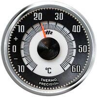 HR-IMOTION History Relief Skala Bimetall Thermometer Chromrand + Magnet + Pad