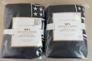 2 Pottery Barn PB Teen NFL Brights Sham STANDARD Football Logo