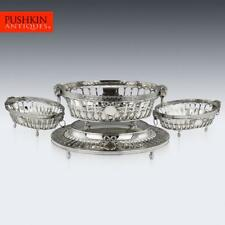 More details for antique 20thc edwardian neoclassical solid silver jardiniere set, london c.1905