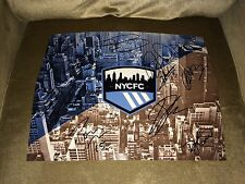 2016 New York City Nycfc Soccer Team Signed Autographed Logo 11X14 Photo Coa