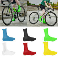 WATERPROOF SILICONE CYCLING LOCK SHOES COVERS BICYCLE OVERSHOES PROTECTOR SMART
