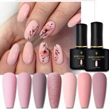 BORN PRETTY Nail Art Nude Rosa Farbe Gel Nagellack UV LED Top Lack 10ml