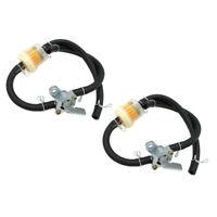 2x Universal Motorrad Kraftstofffilter Benzinfilter mit Schlauch und Benzinhahn