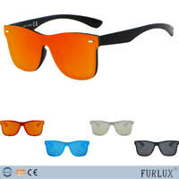 Urban Hipster Retro Vintage Rimless Square Shield UV Protect Fashion Sunglasses