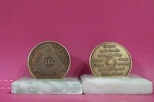 Recovery coins AA 29 Year Bronze Medallion tokens sobriety affirmation birthday