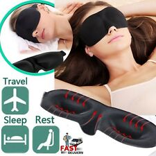 3D Soft Sponge Sleeping Sleep Aid Eye Mask Blindfold Shade Plane Blackout