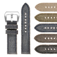 DASSARI Frayed Edge Canvas Vintage Distressed Mens Faded Watch Band Strap