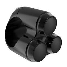 Schwarzer Aluminium Lenkertaster Switch Taster Triple für Motorrad 22 mm Lenker