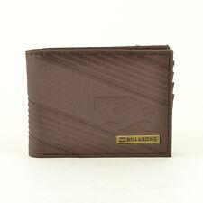 Billabong Para hombres Billetera PU unión Bi-Fold-SS17: Chocolate