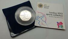 London 2012 Olympics - Archery 50p Silver Coin - Rarity