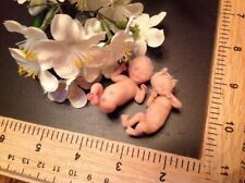Ooak Baby Hand Sculpted Elf Twins Polymer Realistic Artist Sculpted