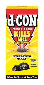 New D-CON No Touch Ultra Set Covered Mouse Trap Multi-Use Easy & Safe 1920000027