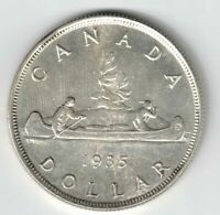 CANADA 1935 VOYAGEUR SILVER DOLLAR KING GEORGE V CANADIAN SILVER COIN