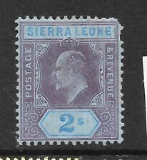 SIERRA LEONE  1907-12   2/-   KEVII   MLH  SG 109