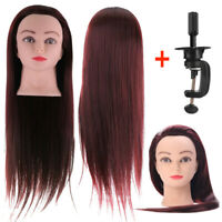 60CM Hair Hairdressing Practicing Model Mannequin Dummy Head Training + Clamp